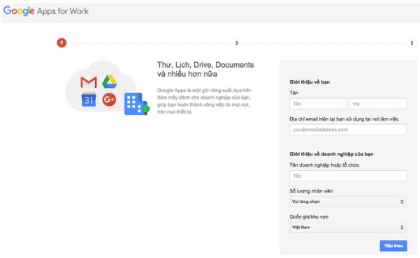 5 bước tạo email Google doanh nghiệp đơn giản