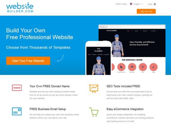 Thiết kế website miễn phí đơn giản bằng website builder