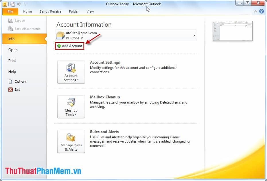 Hướng dẫn cách cấu hình Gmail trên Outlook mới nhất