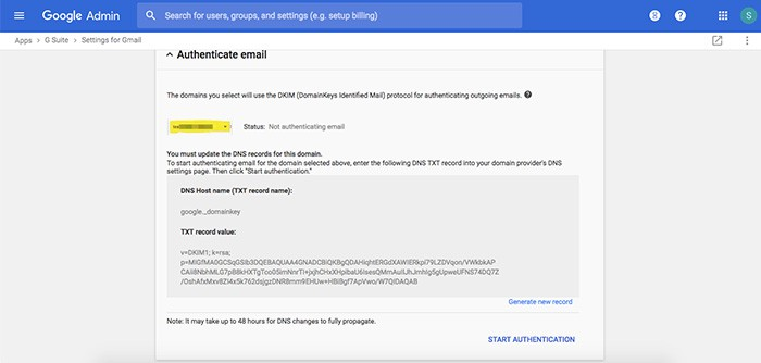 Hướng dẫn cấu hình xác thực SPF và DKIM, DMARC Record cho Google Workspace